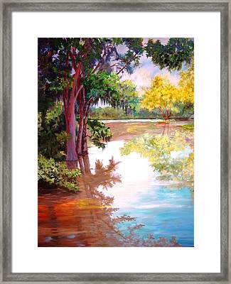 Framed Print featuring the painting A Fine Day by AnnE Dentler