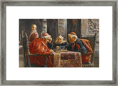 A Game Of Chess Framed Print by Jose Gallegos