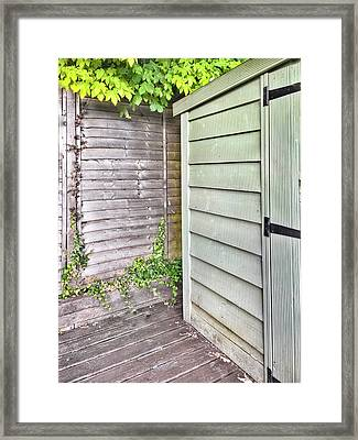 A Garden Shed Framed Print by Tom Gowanlock