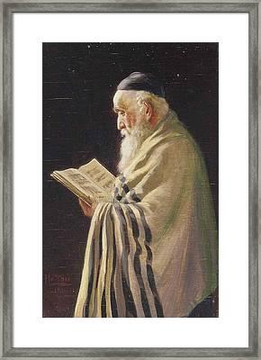 A Jewish Elder Framed Print