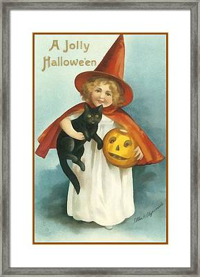 A Jolly Halloween Framed Print