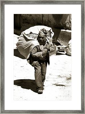 A Man And His Dignity Framed Print by Amarildo Correa