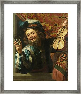A Merry Fiddler Framed Print