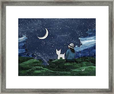 A Missing Piece Framed Print