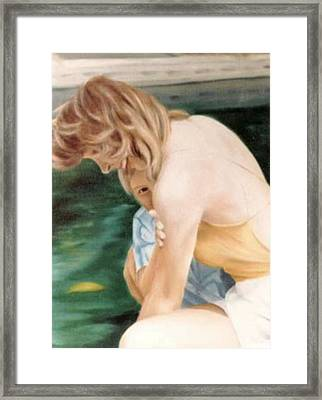 A Moment Of Shyness Framed Print by Steven Welch