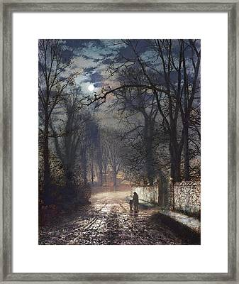 A Moonlit Lane Framed Print