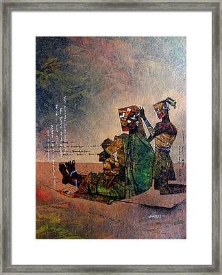 A Mother With Siblings Framed Print by Sharath Palimar