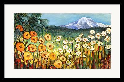 Meadow Paintings Framed Prints