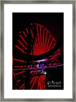 A Night At Santa Monica Pier Framed Print by Clayton Bruster