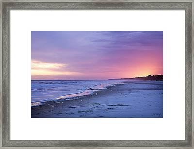 A Night On The Beach Begins Framed Print