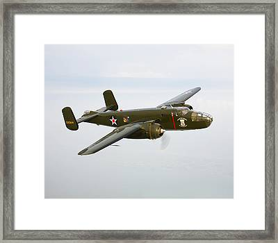 A North American B-25 Mitchell Framed Print by Scott Germain