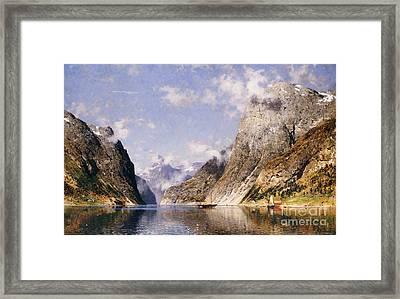 A Norwegian Fjord  Framed Print by Adelsteen Normann