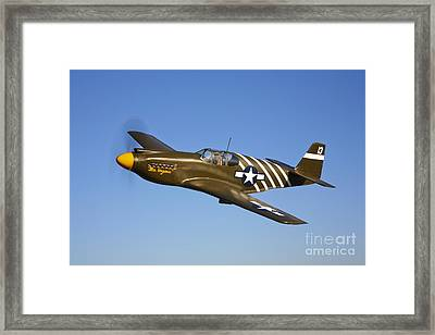 A P-51a Mustang In Flight Framed Print