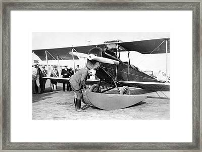A Parachute For Airplanes Framed Print by Underwood Archives