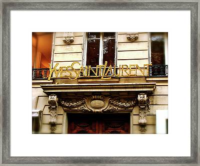 A Passion For Fashion Framed Print by Ira Shander