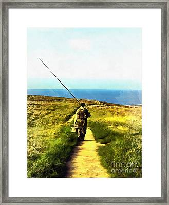 A Plaice To Fish Framed Print