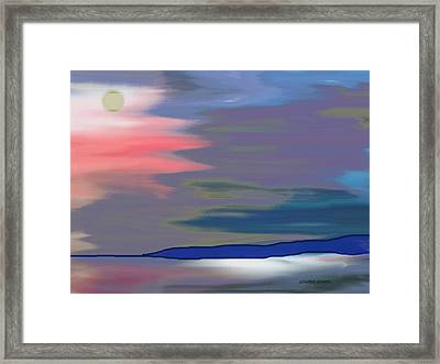 A Quiet Evening Framed Print