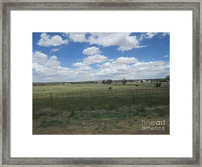 A Ranch Scene Framed Print by Frederick Holiday