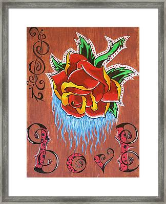 A Rose For The Wife Framed Print by Landon Clary