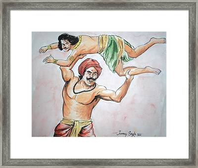A Scene From Mahabharata Framed Print by Tanmay Singh