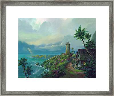 A Small Patch Of Heaven Framed Print by Michael Humphries