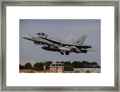 A Spanish Air Force F-18m Hornet Taking Framed Print