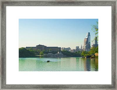 Framed Print featuring the photograph A Spring Morning In Philadelphia by Bill Cannon