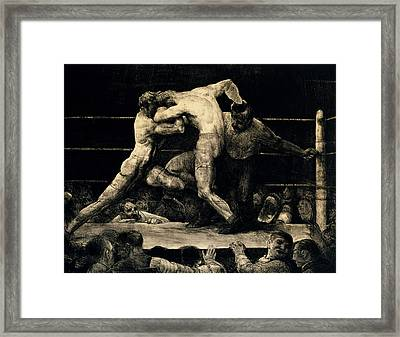 A Stag At Sharkey's Framed Print by George Bellows