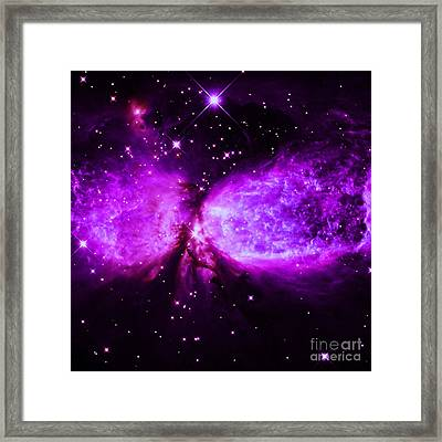 A Star Is Born Purple Framed Print