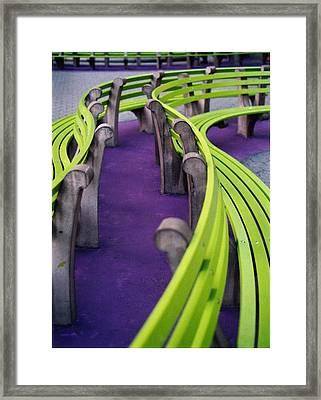 A Study In Purple And Green Framed Print by Jane Linders