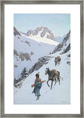 A Successful Hunt Framed Print by Henry Francois Farny