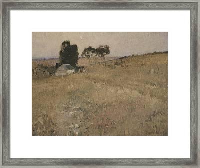 A Summer Evening Framed Print by David Davies