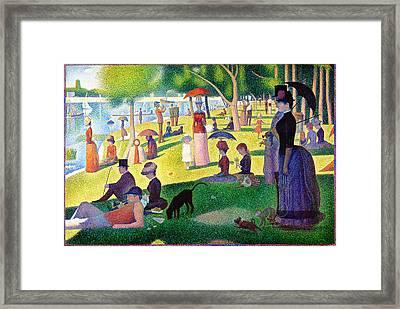 A Sunday Afternoon On The Island Of La Grande Jatte  Framed Print