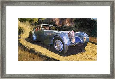 A Sunday Drive In Tuscany Framed Print by RG McMahon