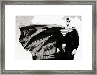 A Superman Story Framed Print by Egor Vysockiy