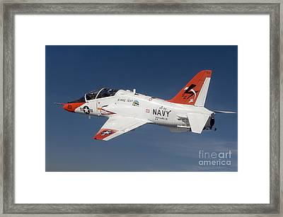 A T-45c Goshawk Training Aircraft Framed Print by Stocktrek Images
