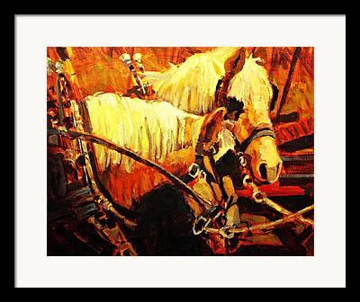 Farm Horses Framed Prints