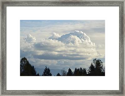 A Touch Of Cloudy Framed Print