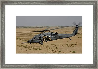 A U.s. Air Force Hh-60 Pavehawk Flies Framed Print by Stocktrek Images