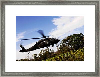 A U.s. Army Uh-60 Black Hawk Helicopter Framed Print
