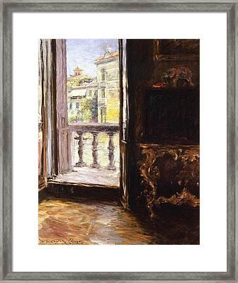 A Venetian Balcony Framed Print