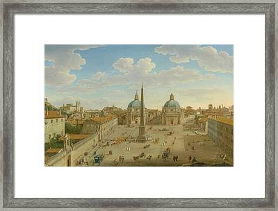 A View Of The Piazza Del Popolo Framed Print