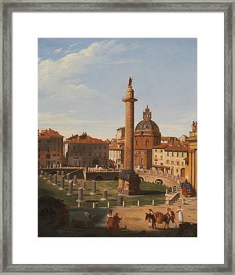 A View Of Trajan's Forum, Rome Framed Print