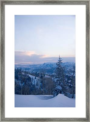 A View Out Over The Mountains Of Utah Framed Print by Taylor S. Kennedy