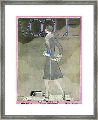 Vogue Magazine Covers Vintage Art framed-posters,