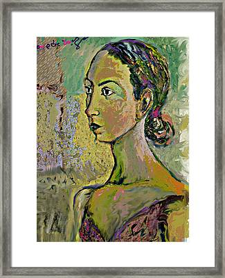 A Waiting Framed Print by Noredin Morgan