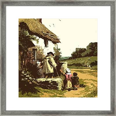 A Walk With The Grand Kids Framed Print