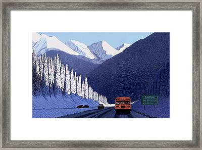 A Winter Drive In British Columbia Framed Print by Neil Woodward