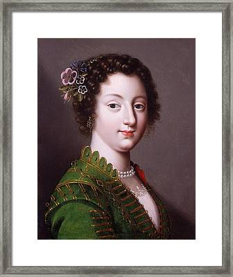 A Young French Noblewoman Framed Print by Claude Deruet