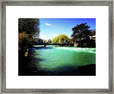 Framed Print featuring the photograph Aare River by Mimulux patricia no No